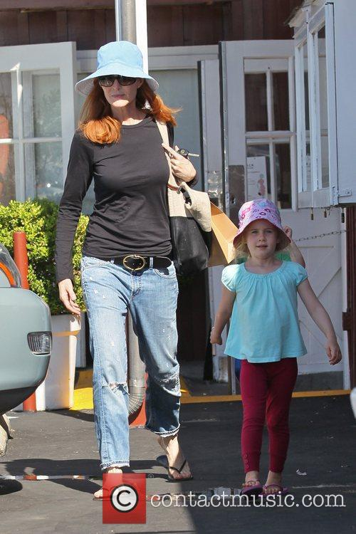 Marcia Cross and her daughters Eden and Savannah...
