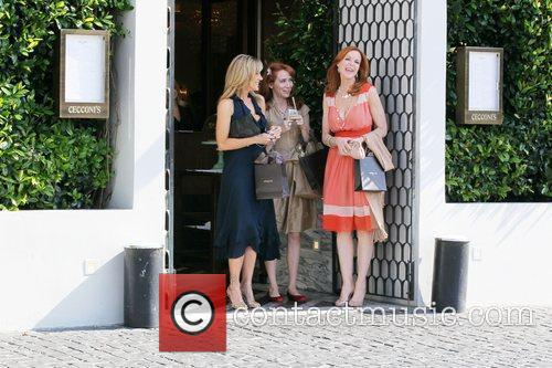 Marcia Cross leaves Cecconi's Restaurant in West Hollywood...