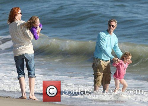 Marcia Cross, her husband Tom Mahoney and their...