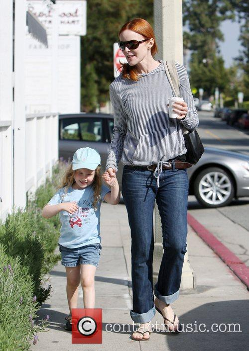 Marcia Cross goes shopping in Brentwood with her...