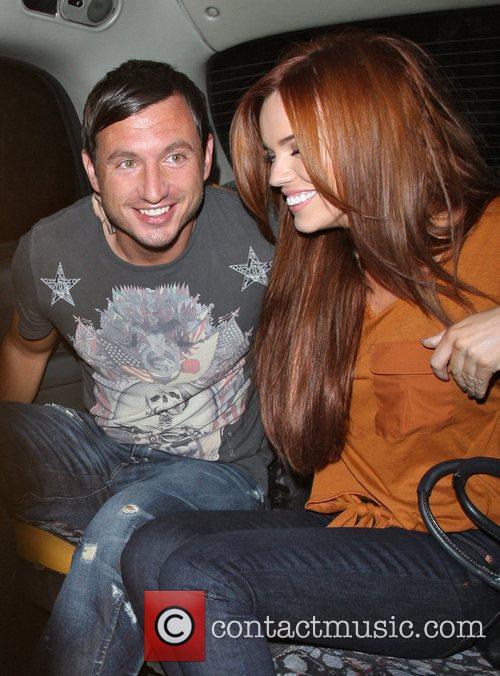Maria Fowler and new boyfriend Craig Church leaving...
