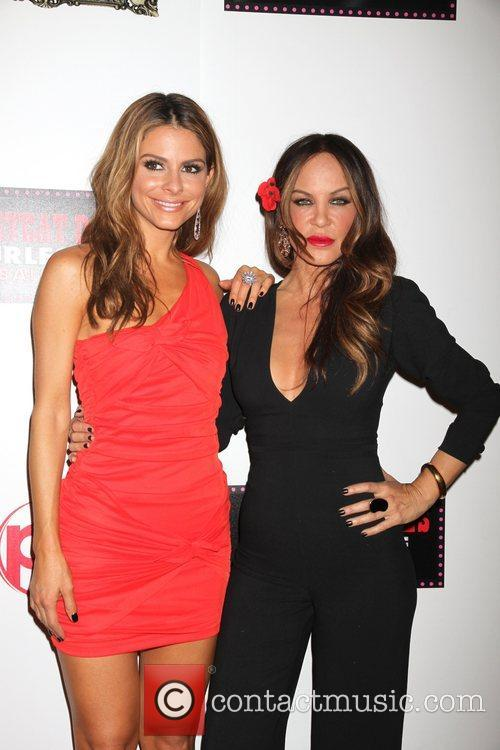 Maria Menounos, Robin Antin and Planet Hollywood 1