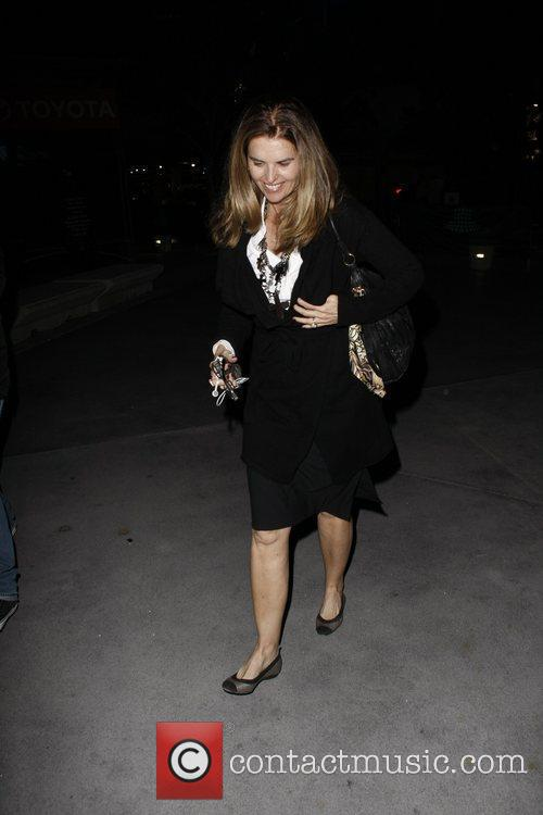 Maria Shriver arriving at the Staples Center for...