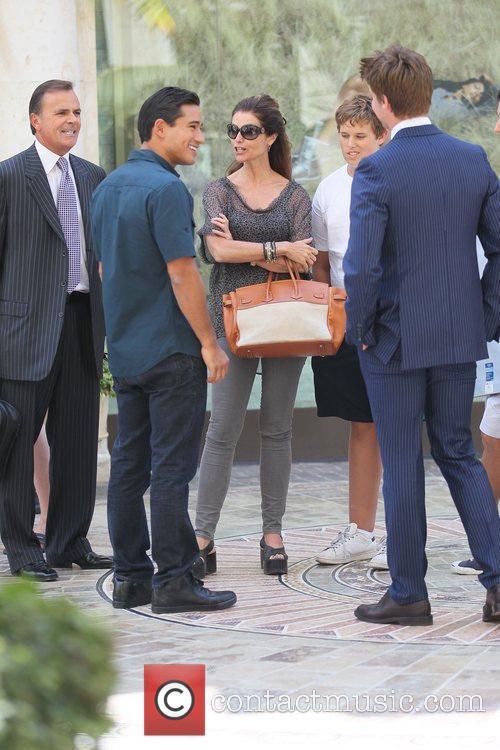 Rick Caruso, Maria Shriver, Mario Lopez and Patrick Schwarzenegger