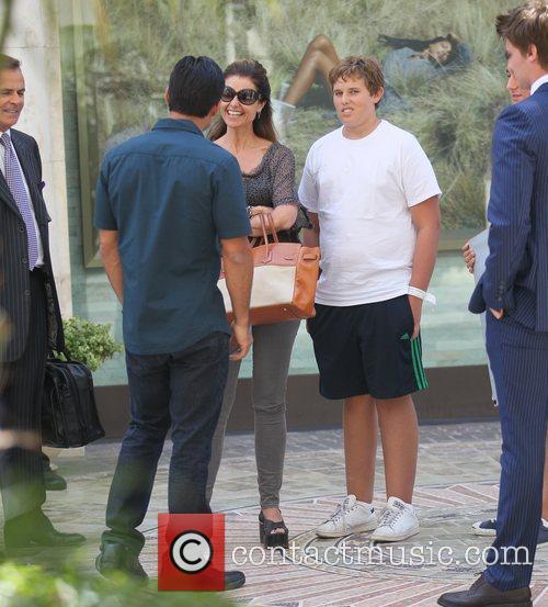 Mario Lopez, Maria Shriver and Patrick Schwarzenegger 9