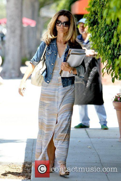 Leaving a hair salon in Beverly Hills wearing...