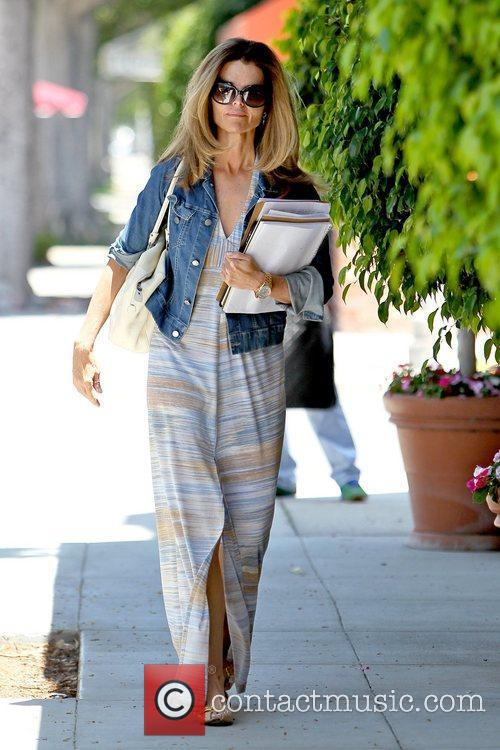 Maria Shriver leaving a hair salon in Beverly...