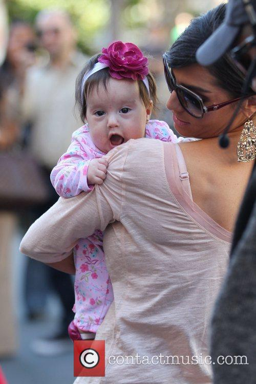 Courtney Mazza with daughter Gia Lopez shopping at...