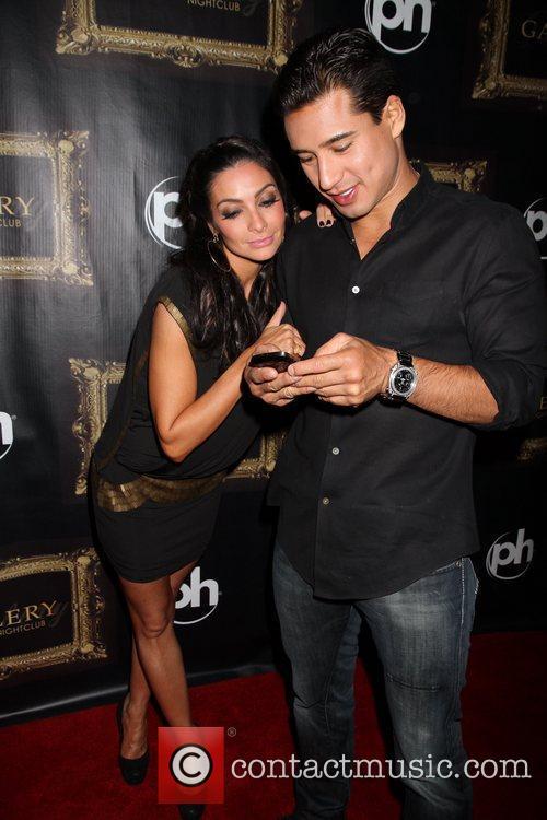 Courtney Mazza and Mario Lopez  Mario Lopez...