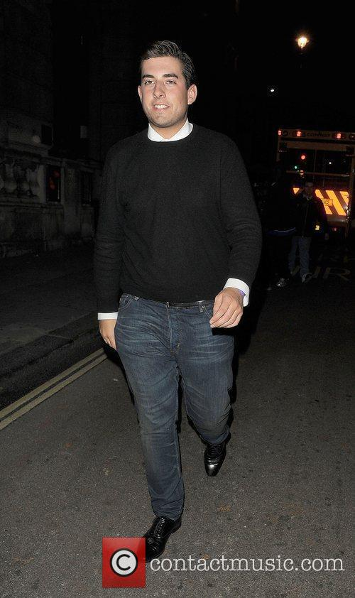 James Argent out and about in Mayfair.