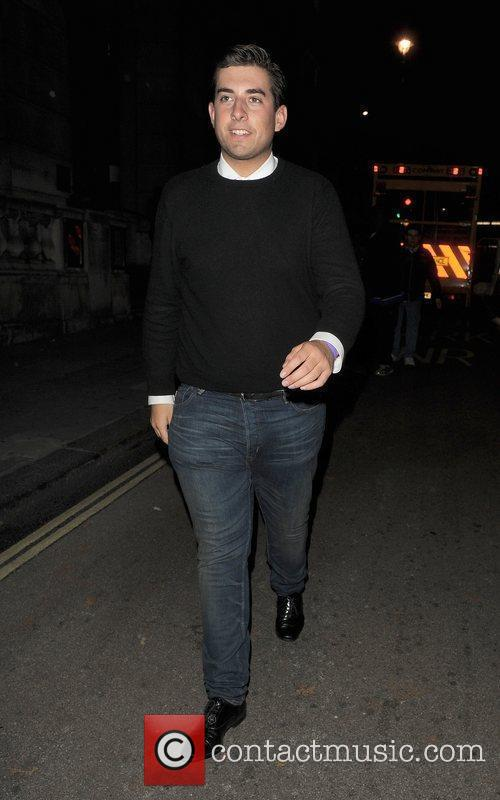 James Argent out and about in Mayfair. London,...