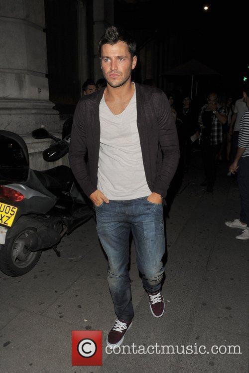 Mark Wright out and about in Mayfair.