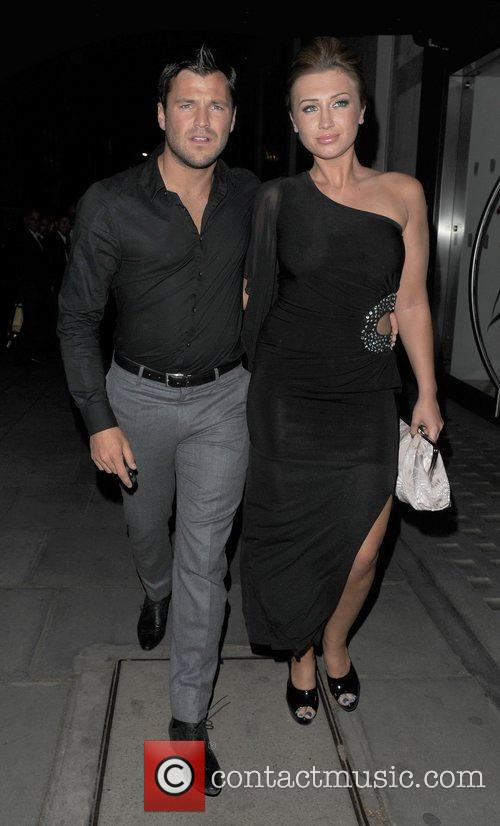 Mark Wright and Lauren Goodger leaving Hakkasan restaurant....