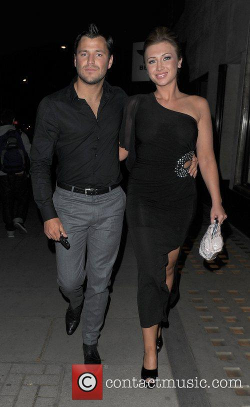 Mark Wright and Lauren Goodger leaving Hakkasan restaurant.