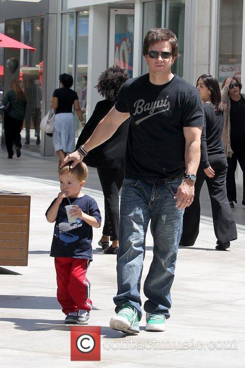 Mark Wahlberg shopping at Westfield Century City mall...