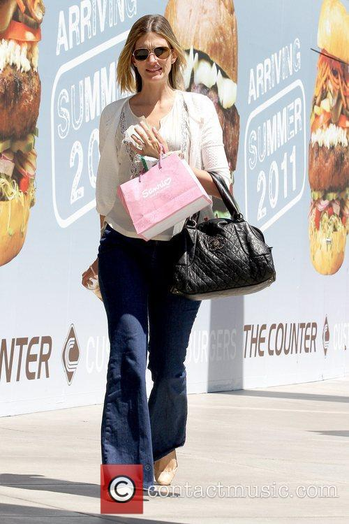 Shopping at Westfield Century City mall with her...