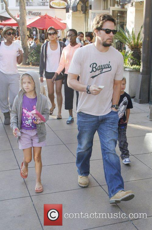 Mark Wahlberg out shopping at The Grove with...