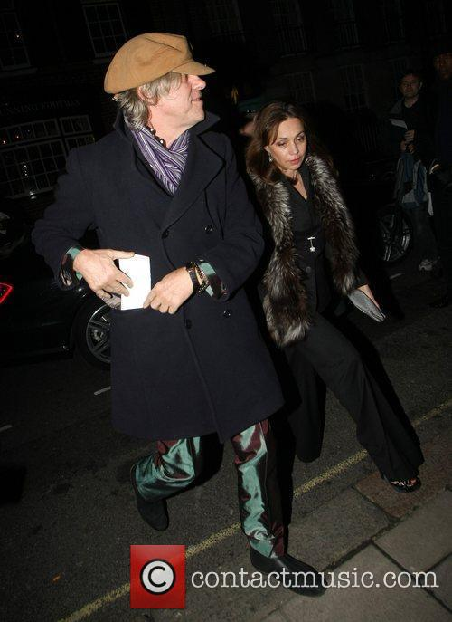 Bob Geldof arrives at Mark's Club in Mayfair...