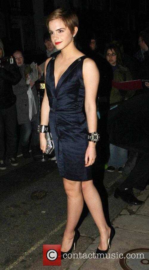 Emma Watson arrives at Mark's Club in Mayfair...