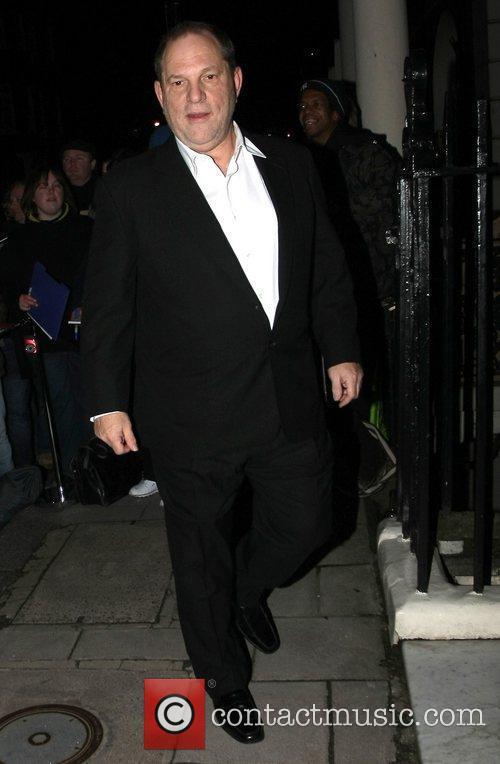 Harvey Weinstein arrives at Mark's Club in Mayfair...