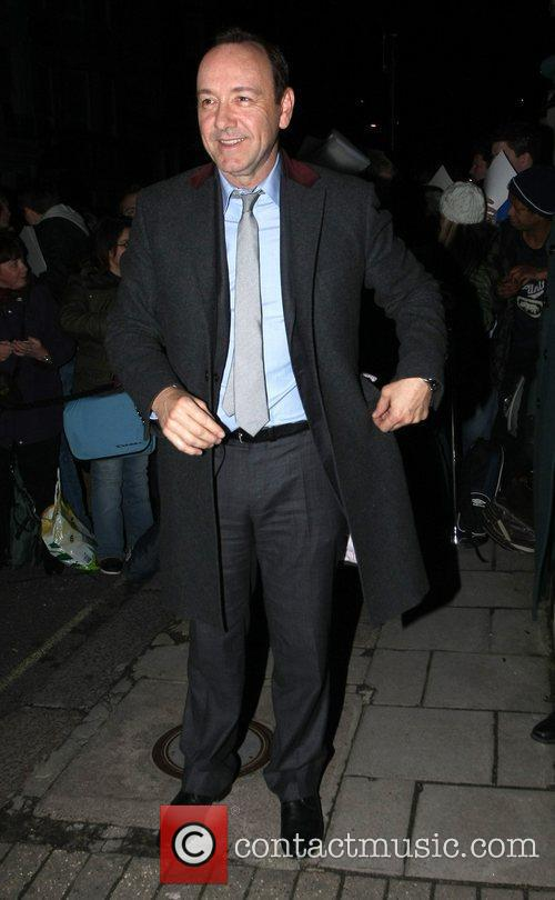 Kevin Spacey arrives at Mark's Club in Mayfair...