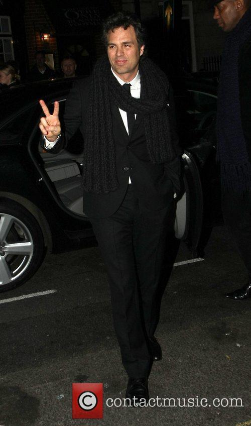 Mark Ruffalo arrives at Mark's Club in Mayfair...