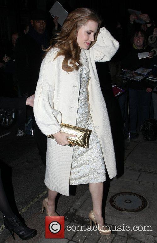Amy Adams arrives at Mark's Club in Mayfair...