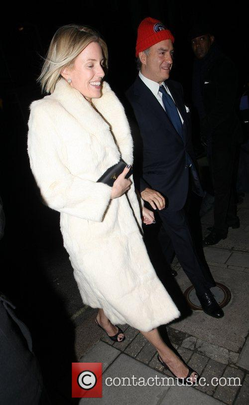 Charles Finch and his wife arrive at Mark's...