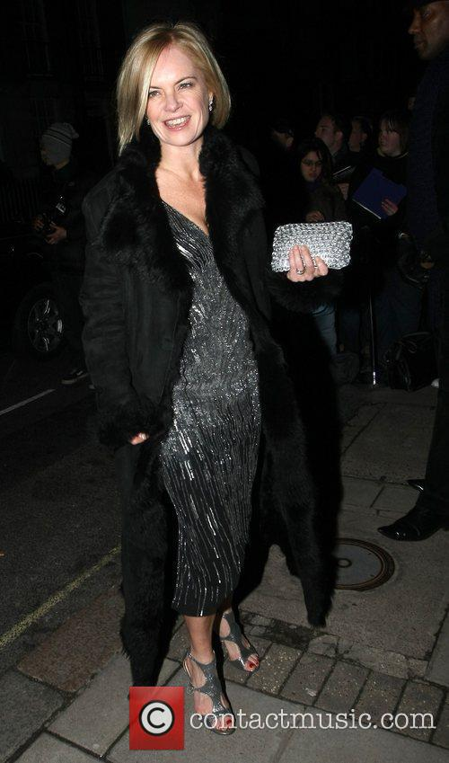 Mariella Frostrup arrives at Mark's Club in Mayfair...