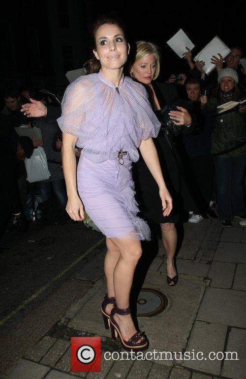 Noomi Rapace arrives at Mark's Club in Mayfair...