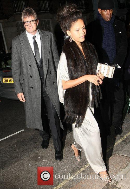 Rachel Barratt and Jay Jopling arrive at Mark's...