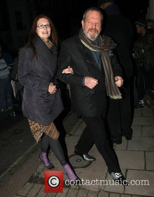 Terry Gilliam arrives at Mark's Club in Mayfair...