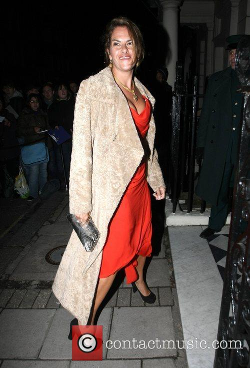 Tracy Emin arrives at Mark's Club in Mayfair...