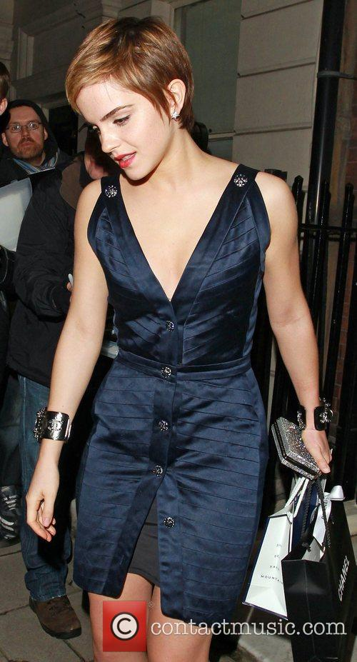 Emma Watson leaves Mark's Club in Mayfair after...