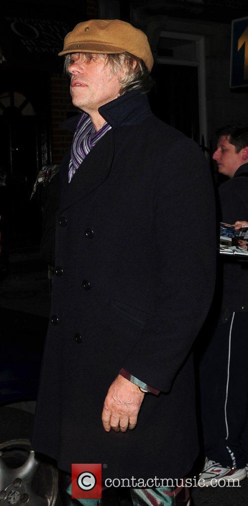 Bob Geldof leaves Mark's Club in Mayfair after...