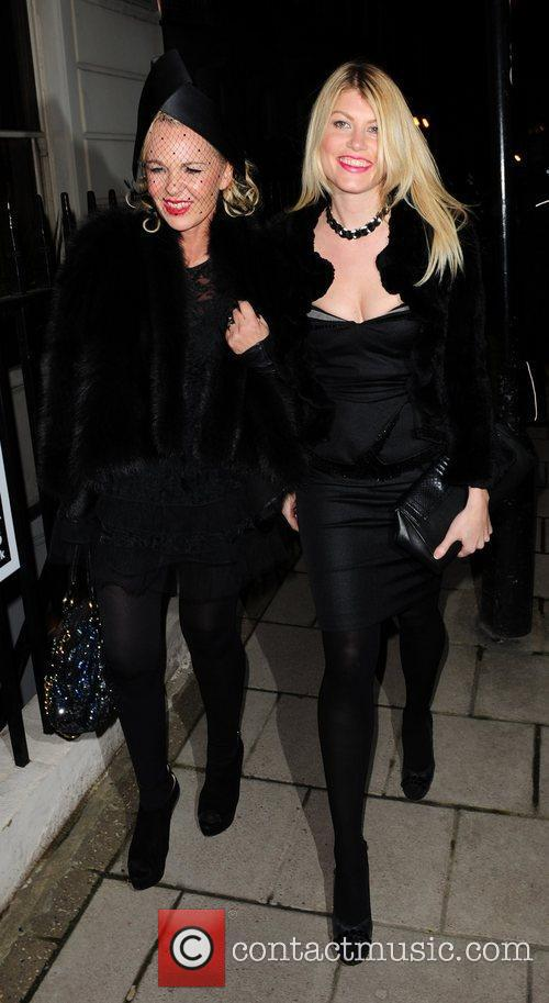 Guests leaves Mark's Club in Mayfair after attending...