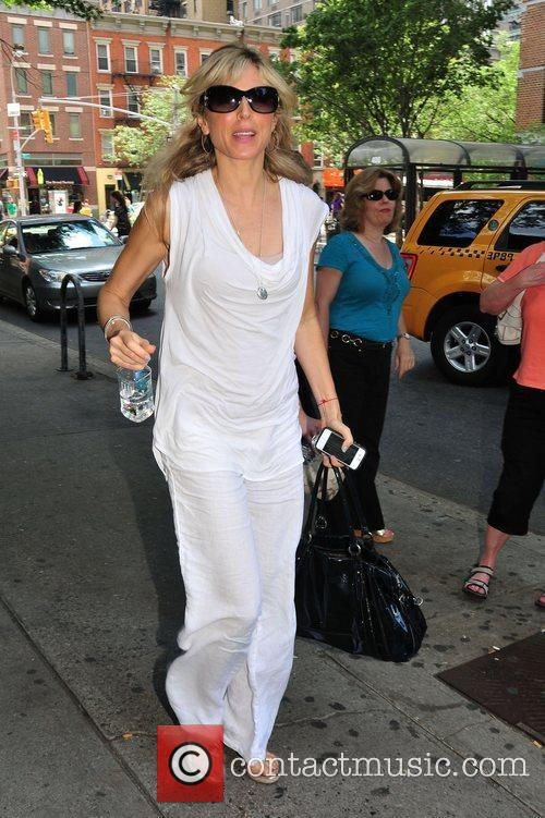 Marla Maples arriving at her play 'Love, Loss...