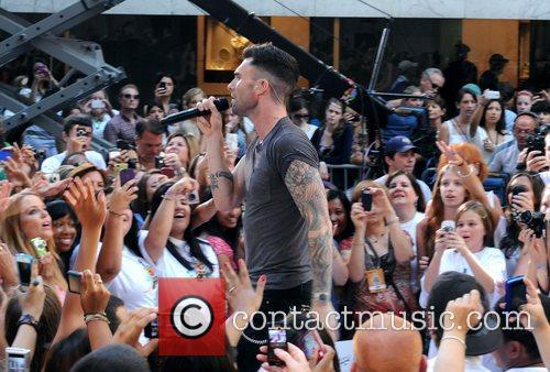 Adam Levine Maroon 5 perform live at the...