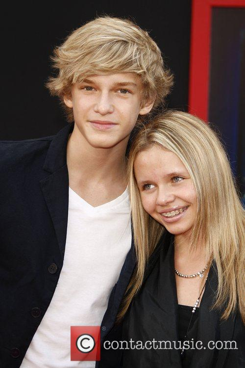 Cody Simpson and his sister Alli Simpson at...