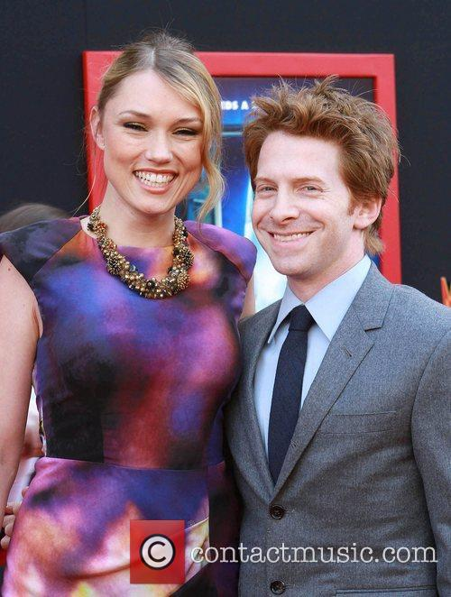 Clare Grant (L) and Seth Green at the...