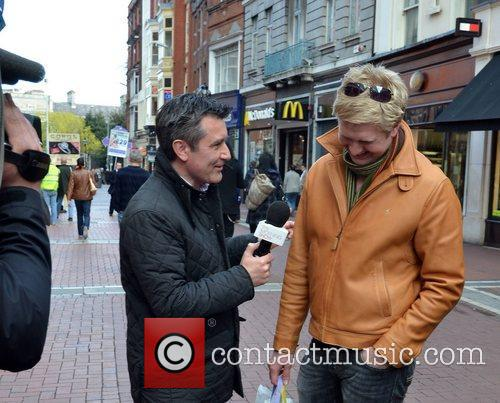 TV3 Morning Show presenter Martin King  interviewing...
