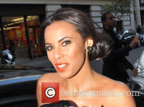 Rochelle Wiseman leaving the May Fair hotel and...