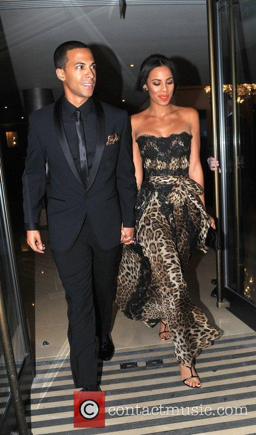 Marvin Humes and girlfriend Rochelle Wiseman leaving the...