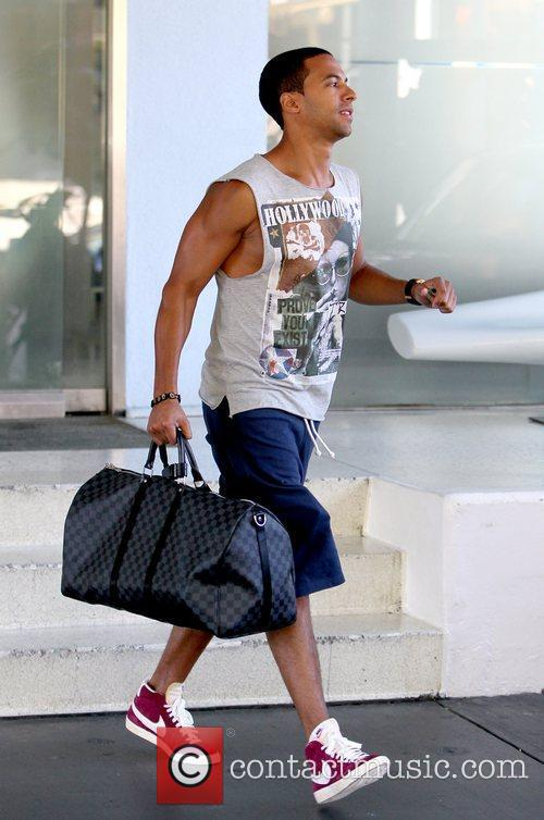 Marvin Humes  of 'JLS' seen leaving his...