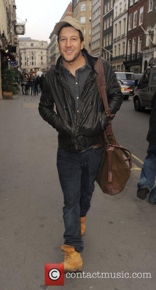 Matt Cardle out and about in Mayfair. London,...