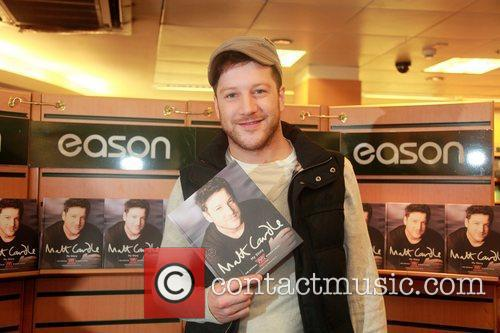 Matt Cardle The X Factor winner signing copies...