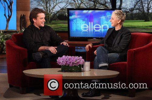Matt Damon and Ellen Degeneres 1