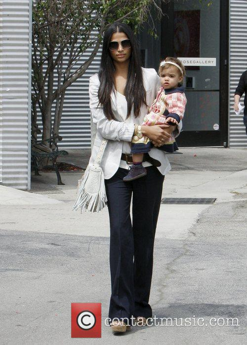 Camila Alves with daughter Vida out and about...