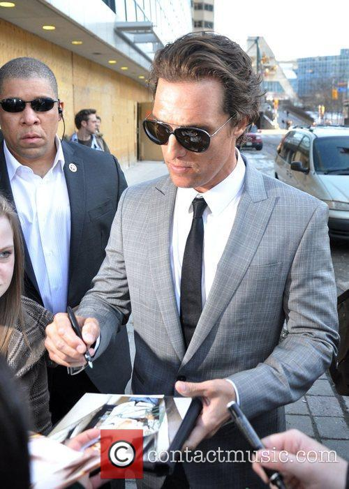 Matthew McConaughey arrives at the CBC Building to...