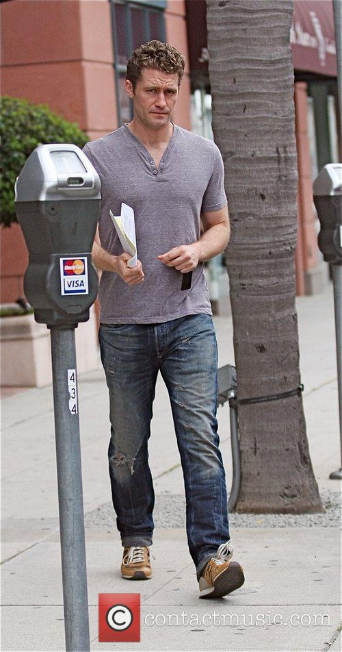 Matthew Morrison leaves a medical building in Beverly...